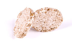 Bread. Two peaces of dieting crispbread Stock Images
