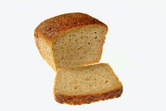 Bread-9. Whole-meal wholemeal bread. Close up Royalty Free Stock Photo