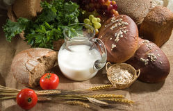 Bread. Different kinds of bread and pastry stock photography