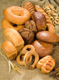 Bread. Different kinds of bread and pastry stock images