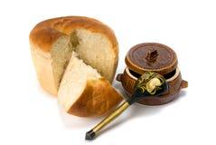 Bread abd pot Royalty Free Stock Photos