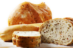 Bread against white Stock Image