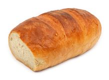 Bread against white Royalty Free Stock Image