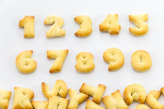 Bread alphabet Royalty Free Stock Photography