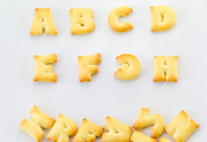 Bread alphabet Royalty Free Stock Photo