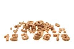 Bread alphabet Royalty Free Stock Image