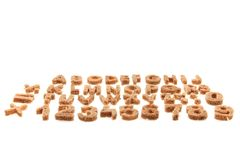 Bread alphabet Royalty Free Stock Images