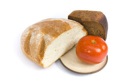 Bread And Tomato Royalty Free Stock Images