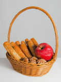 Bread and apple Stock Photo
