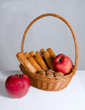 Bread and apple Stock Photography