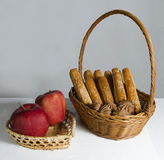 Bread and apple Royalty Free Stock Photography