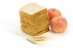 Bread and apple Royalty Free Stock Image