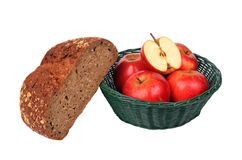 Bread and apples Royalty Free Stock Photo