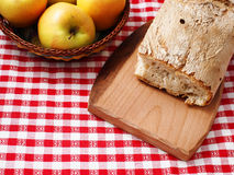 Bread and apples Stock Photo