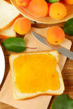 Bread with apricot jam Royalty Free Stock Photo