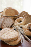 Bread assortment. With bagel and wheat Royalty Free Stock Images