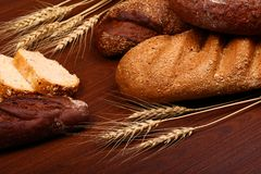 Bread assortment background Royalty Free Stock Photo