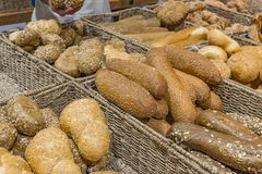 Bread assortment background Stock Image