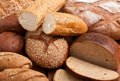 Bread Assortment Background Royalty Free Stock Photography
