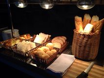 Bread assortment. Assortment of fresh bread on table stock photography