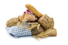 Bread assortment on a white background Stock Photography