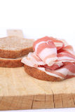Bread and bacon Stock Photography