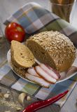 Bread and bacon Stock Images