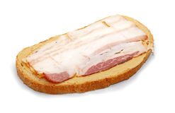 Bread and bacon Stock Photo