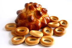 Bread and bagels . Royalty Free Stock Photography
