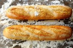Bread baguette france organic wheat clasical bread Royalty Free Stock Photography