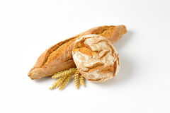 Bread and baguette Stock Image