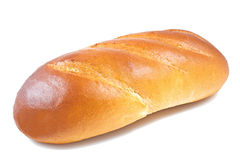 Bread baguette in a white background Royalty Free Stock Photography