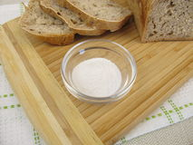 Bread baked with inulin. Homemade bread baked with inulin Stock Image