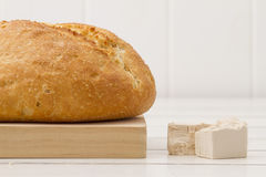 Bread and baker's yeast Stock Image