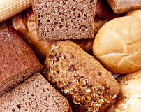 Bread and bakeries. Food ingredients background Royalty Free Stock Photography