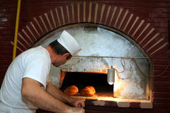 Bread in bakery Stock Images