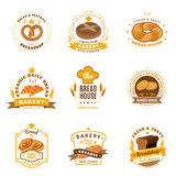 Bread Bakery Emblems Flat Icons Set Royalty Free Stock Photography
