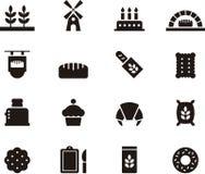 Bread and bakery icon set Stock Photo
