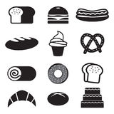 Bread And Bakery Icon Set. Stock Photo