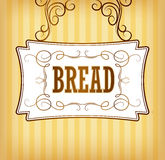 Bread. Bakery. labels, pack for bread Royalty Free Stock Photography