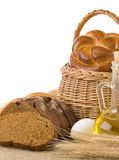 Bread and bakery products Royalty Free Stock Images
