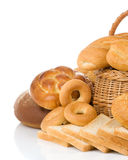 Bread and bakery products stock photo