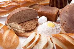 Bread bakery products Stock Images