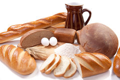 Bread bakery products Royalty Free Stock Photos
