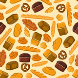 Bread and bakery products seamless pattern Royalty Free Stock Photography