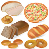 Bread and bakery set Royalty Free Stock Photography