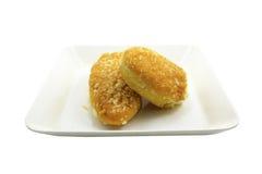 Bread bakes Royalty Free Stock Photography