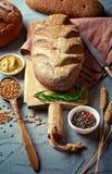 Bread baking in the composition stock photos
