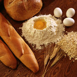Bread Baking Ingredients Royalty Free Stock Photos