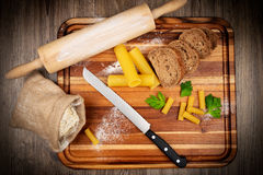Bread baking set Royalty Free Stock Photo